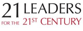 Text reading 21 leaders for the 21st century.