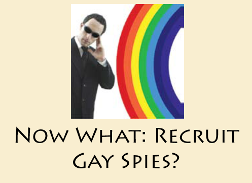 Now What: Recruit Gay Spies?