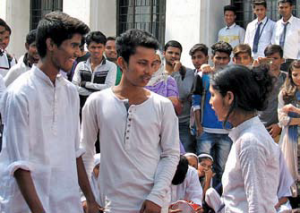 Group of Indian boys talking