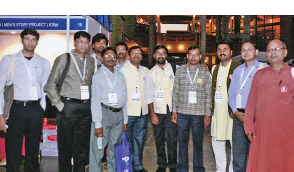 MEN FOR EQUALITY: Members of MASVAW were among the delegates from 94 countries attending the Men and Boys for Gender Justice global symposium in New Delhi.