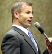 Rep. Rick Brattin lobbying to sack women's reproductive rights.