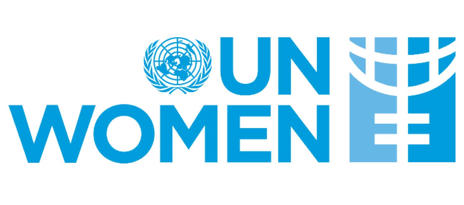 UN Women logo - U.N. logo with bold blue text on white background