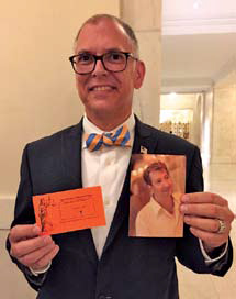 Jim Obergefell at the Supreme Court on June 25, 2015, holding a picture of his husband, John Arthur, who died in October 2013.
