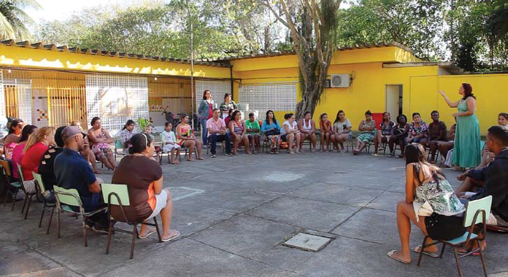 A meeting with parents in the Stella Maris Nursery to prepare for a Children's Day event in Vila Joaniza, one of 700 favelas in Rio de Janeiro.