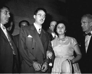 Ethel and Julius Rosenberg in wedding atire