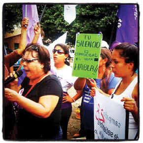 Red de Mujeres contra la Violencia protests, Nicaragua 2012.